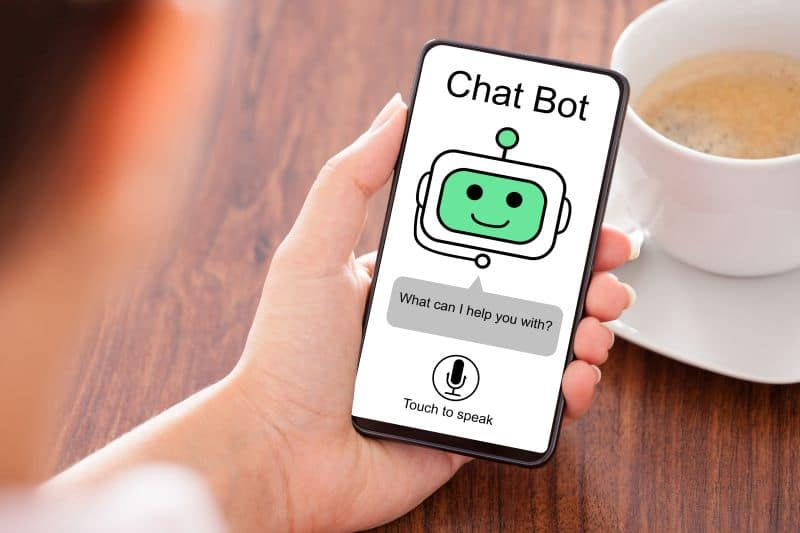 chat bot web design 2020