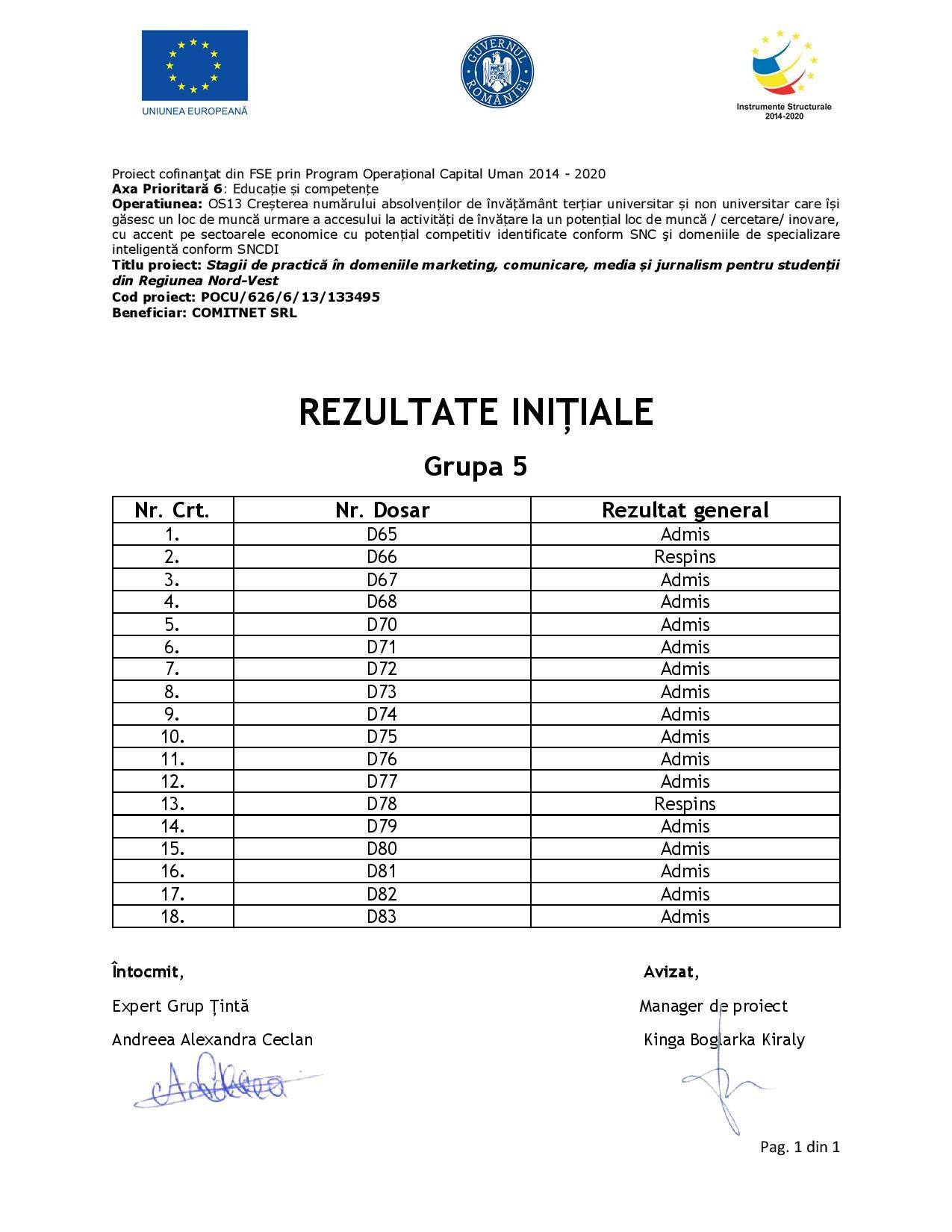 [Stagii de Practică SEO 365] Rezultate inițiale - Grupa V-page-001